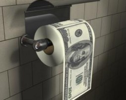 Papier toilette billets de 100 dollars