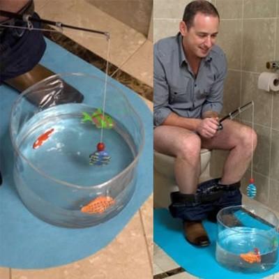 Jeu de pêche pour WC