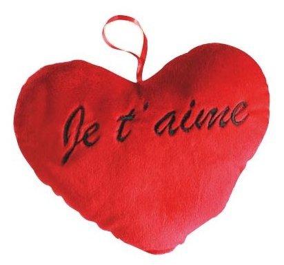 """Mini peluche cœur """"je t'aime"""""""