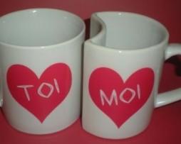 Duo de mugs TOI et MOI