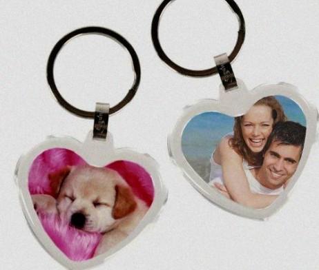 Porte-clés cadre photo cœur