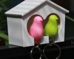 Porte-clés nid d'oiseaux