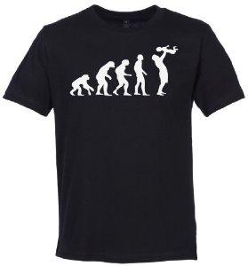 T-shirt évolution de l'homme en papa