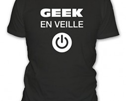 T-shirt-humour-Geek-en-veille-Manches-courtes-Homme-0